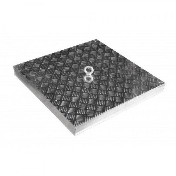 Floor Aluminium Manhole Cover Lite without filling 600mm x 600mm