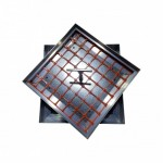 Floor Aluminium Manhole Cover with filling 700mm x 700mm